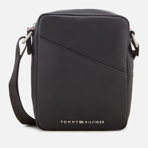 Tommy Hilfiger Men's TH Diagonal Mini Reporter Bag - Black