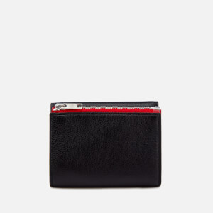 Maison Margiela Men's Zip Detail Grained and Calf Grain Leather Wallet - Black/Red