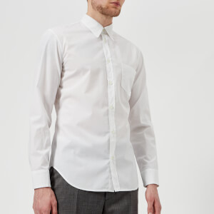 Maison Margiela Men's Cotton Poplin Ready to Dye Slim Fit Shirt - White