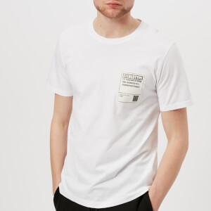 Maison Margiela Men's Garment Dyed Stereotype Patch T-Shirt - White