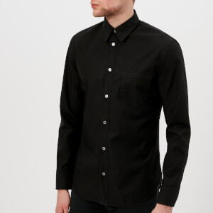 Maison Margiela Men's Cotton Poplin Ready to Dye Slim Fit Shirt - Black