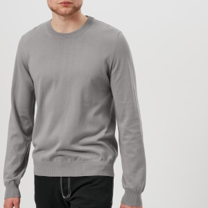 Maison Margiela Men's Elbow Patch Crew Neck Jumper - Grey