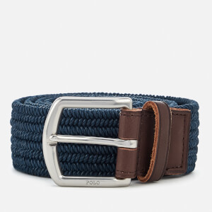Polo Ralph Lauren Men's Braided Fabric Stretch Belt - Navy