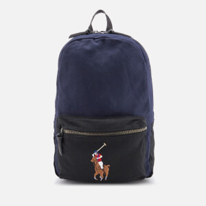 Polo Ralph Lauren Men's Medium Canvas Backpack - Navy/Black