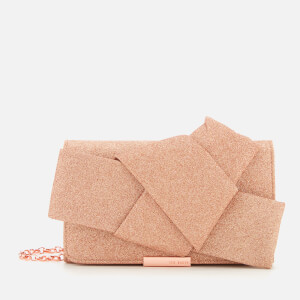 Ted Baker Women's Fefee Knot Bow Evening Bag - Rose Gold