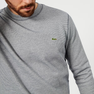 Lacoste Men's Crew Neck Sweatshirt - Navy Blue/Flour
