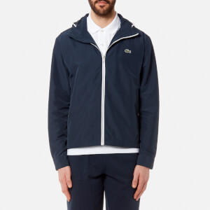 Lacoste Men's Lightweight Jacket - Navy Blue/White