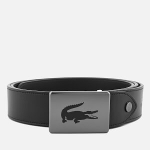 Lacoste Men's Sportswear Canvas Leather Mix Belt - Black/Brown