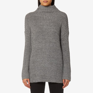 Joules Women's Prunella Ribbed Funnel Neck Jumper - Grey