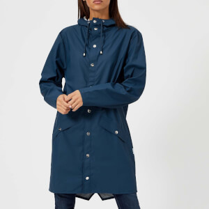RAINS Women's Long Jacket - Faded Blue