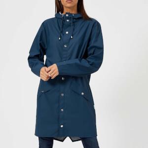 RAINS Women's Long Jacket - Faded Blue