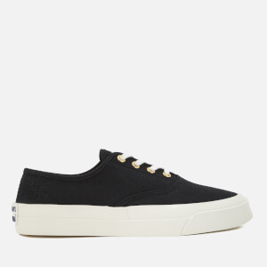 Maison Kitsuné Canvas Laced Sneakers - Black