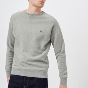Maison Kitsuné Men's Tricolor Sweatshirt - Grey Melange