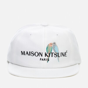 Maison Kitsuné Men's Love Birds Baseball Cap - White