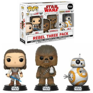 Lot de 3 Figurines Pop! EXC Star Wars, épisode VIII : Les Derniers Jedi - Les Gentils