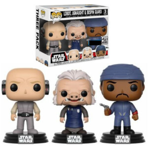 Pack 3 Figuras Pop! Vinyl Exclusivas Lobot, Ugnaught & Guardia de Bespin - Star Wars