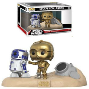Star Wars Movie Moments R2-D2 & C-3PO Desert EXC Pop! Vinyl Figur 2er Pack