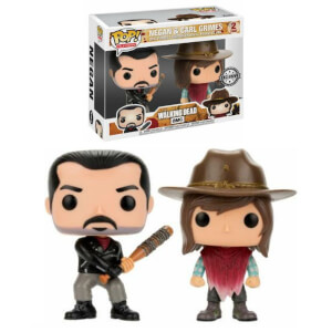 The Walking Dead Negan & Carl EXC Pop! Vinyl Figur 2er Pack