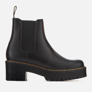 Dr. Martens Women's Rometty Vintage Smooth Leather Heeled Chelsea Boots - Black