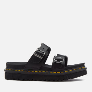 Dr. Martens Men's Myles Brando Leather Double Strap Sandals - Black