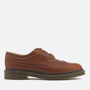 Dr. Martens Men's 3989 Harvest Leather Wingtip Brogues - Tan