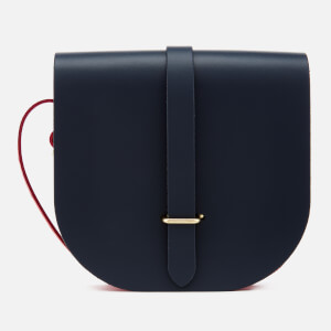The Cambridge Satchel Company Women's Saddle Bag - Navy & Crimson