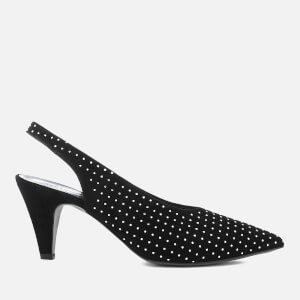 Rebecca Minkoff Women's Simona Studs Suede Sling Back Court Shoes - Black