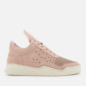 Filling Pieces Women's Ghost Gradient Perforated Low Top Trainers - Light Pink
