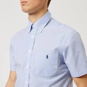 Polo Ralph Lauren Men's Short Sleeve Seersucker Shirt - Blue