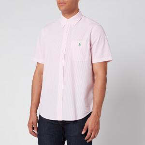 Polo Ralph Lauren Men's Seersucker Stripe Shirt - Pink/White