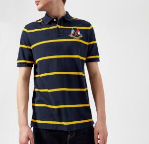 Polo Ralph Lauren Men's Cross Flags Polo Shirt - Cruise Navy/Slicker Yellow