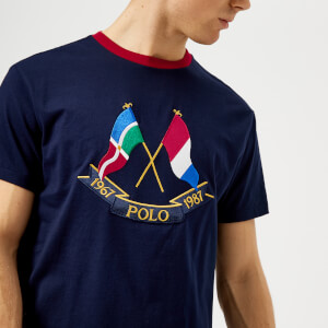 Polo Ralph Lauren Men's Cross Flags T-Shirt - Cruise Navy