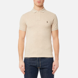 Polo Ralph Lauren Men's Slim Fit Short Sleeve Knit Polo Shirt - Expedition Dune Heather