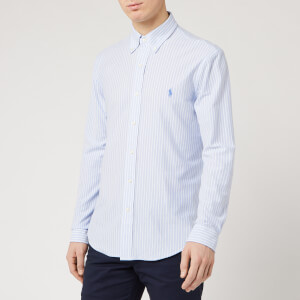 Polo Ralph Lauren Men's Oxford Shirt - Dress Shirt Blue/White