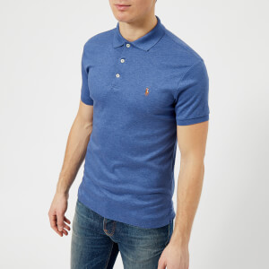 Polo Ralph Lauren Men's Slim Fit Pima Polo Shirt - Faded Royal Heather