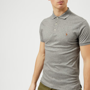 Polo Ralph Lauren Men's Slim Fit Pima Polo Shirt - Steel Heather