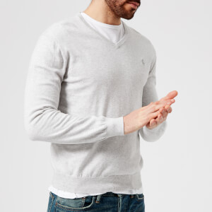 Polo Ralph Lauren Men's Pima V-Neck Knitted Jumper - Lawrence Grey Heather