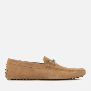 Tod's Men's Suede Gommino Double T Driving Shoes - Beige