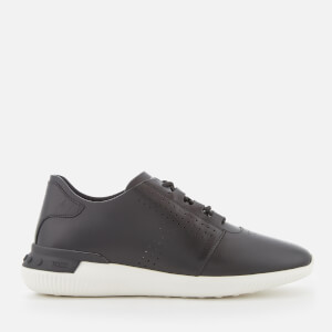 Tod's Men's Leather Contrast Sole Trainers - Black