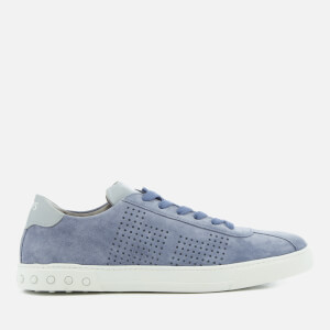 Tod's Men's Suede Perforated Side Trainers - Light Blue