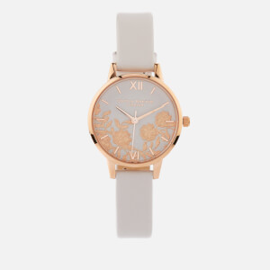 Olivia Burton Women's Lace Detail Watch - Blush/Rose Gold