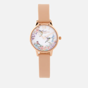 Olivia Burton Women's Painterly Prints Watch - Nude Peach/Rose Gold