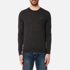 Polo Ralph Lauren Men's Merino Wool Long Sleeve Jumper - Dark Granite Heather