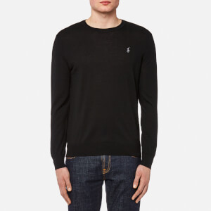Polo Ralph Lauren Men's Merino Wool Long Sleeve Jumper - Polo Black