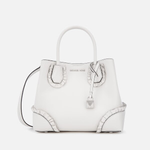 MICHAEL MICHAEL KORS Women's Mercer Gallery Small Ruffle Satchel - Optic White