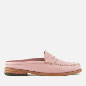 Bass Weejuns Women's Penny Slide Wheel Patent Leather Loafers - Bridal Rose