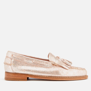 Bass Weejuns Women's Esther Suede Loafers - Silver: Image 1
