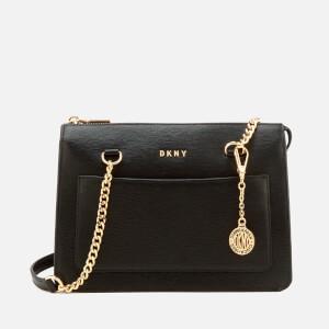 DKNY Women's Small Zip Tote Bag - Black