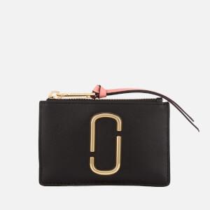 Marc Jacobs Women's Snapshot Top Zip Multi Wallet - Black/Rose