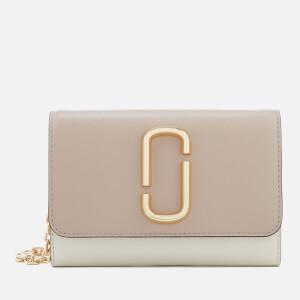 Marc Jacobs Women's Snapshot Wallet on Chain - Light Slate Multi